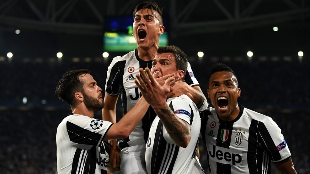 Paulo Dybala and Juventus celebrate victory against Barcelona in last season's quarter-finals ©Getty Images