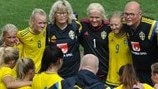 Sweden huddle