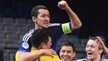 Watch four-goal Kazakhstan go through