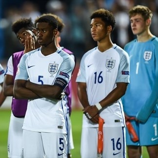 England players following defeat