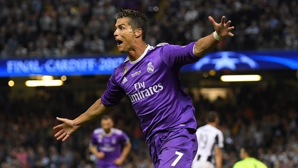 Cristiano Ronaldo enjoys his second goal tonight and 12th of the campaign