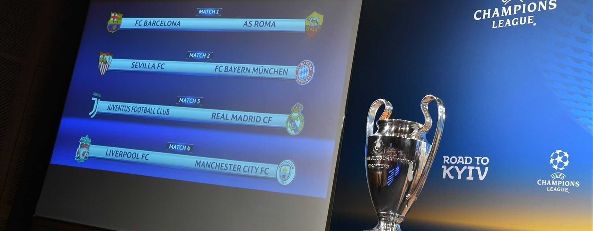 Quarter-final draw matches Juve with Real Madrid: full details