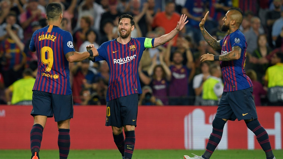 Watch Messi's hat-trick against PSV