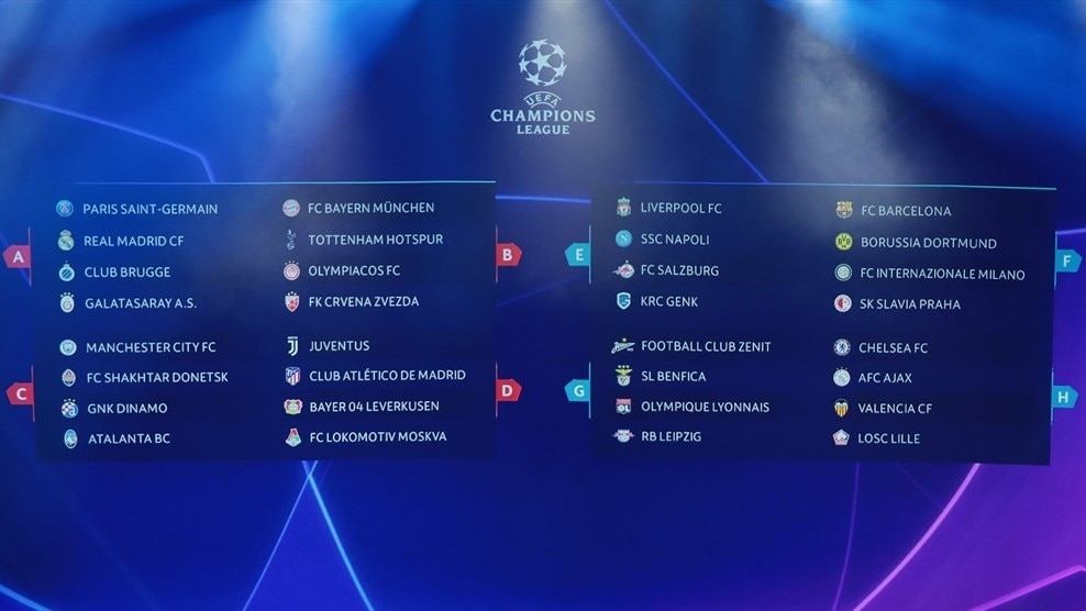 Champions League Group Stage Draw Made In Monaco Uefa