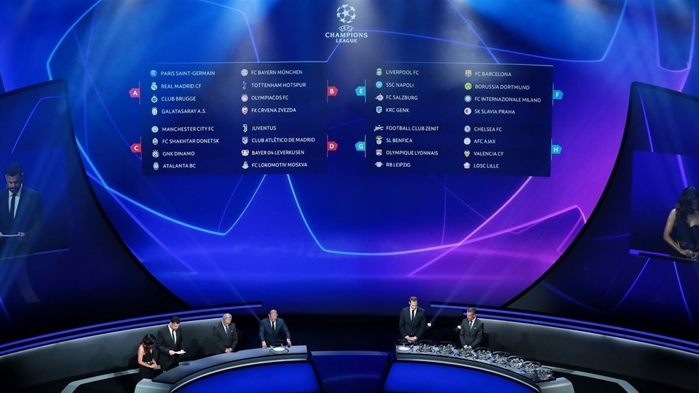 Calendario Uefa Champions League.Uefa Champions League Group Stage Draw