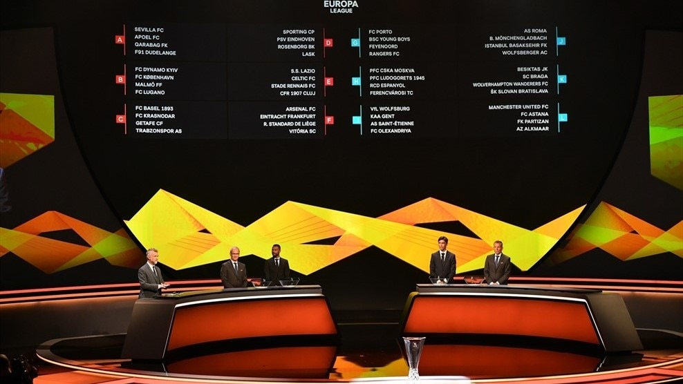 Europa League Group Stage Draw Made In Monaco Uefa Europa