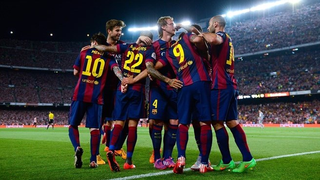 Messi double helps Barcelona to Copa del Rey win