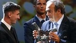 Messi named Best Player in Europe for second time