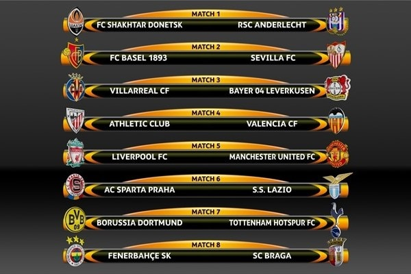 europa league games today