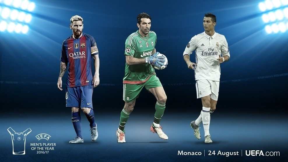 UEFA Player of the Year - Buffon, Messi dan Ronaldo dalam senarai
