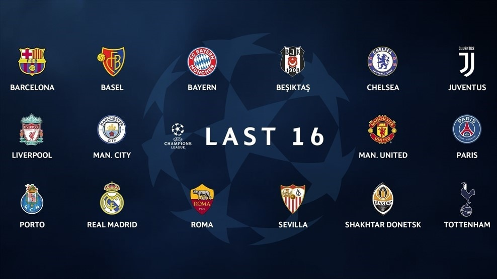 Who is in the Champions League round of 16? - UEFA Champions League