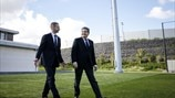 UEFA's President visits Portugal's City of Football