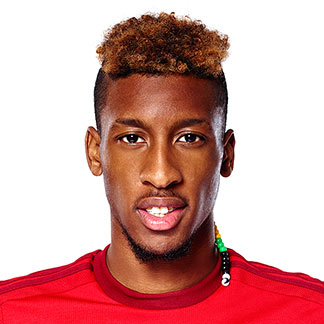 The 21-year old son of father (?) and mother(?), 178 cm tall Kingsley Coman in 2017 photo