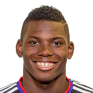 The 20-year old son of father (?) and mother(?), 185 cm tall Breel Embolo in 2017 photo