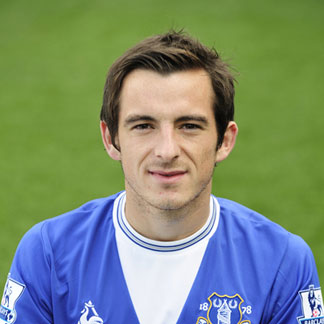 The 32-year old son of father (?) and mother(?), 170 cm tall Leighton Baines in 2017 photo