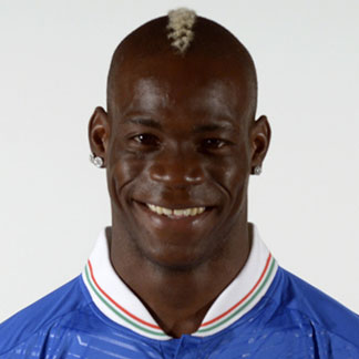 Mario Balotelli sporting a crest hairstyle during the 2012 UEFA Euro