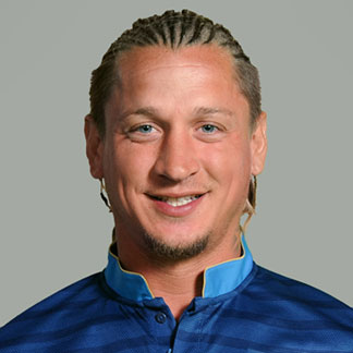 Philippe Mexès sporting his hair in a braids hairstyle for the Euro 2012