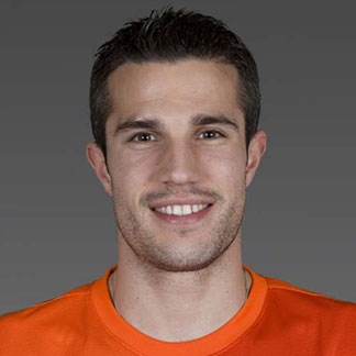 Robin Van Persie with his hair styled in a classic hairstyled