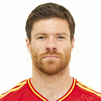 Xabi Alonso with his cool hair in an Ivy League hairstyle for the Euro 2012