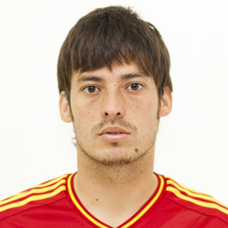 David Silva with his hair styled in a fringe hairstyle for the Euro 2012