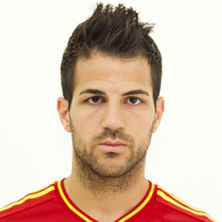 Cesc Fabregas with his hair styled in a faux hawk hairstyle during the Euro 2012