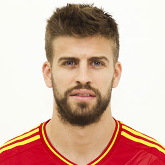 Gerard Pique posing with his hairstyle for the Euro 2012