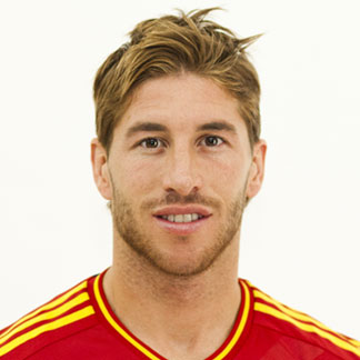 Sergio Ramos with his side parted medium length hairstyle for his hair