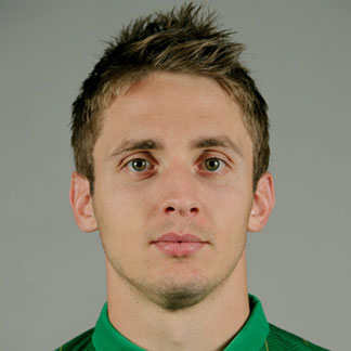 Irish Kevin Doyle with a faux hawk during the Euro 2012