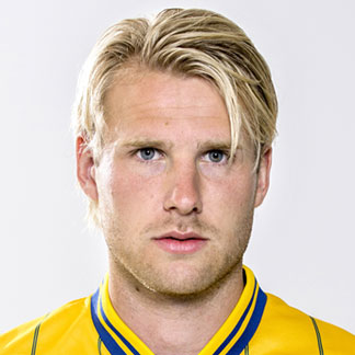 Ola Toivonen with a David Beckham-like hairstyle during the Euro 2012