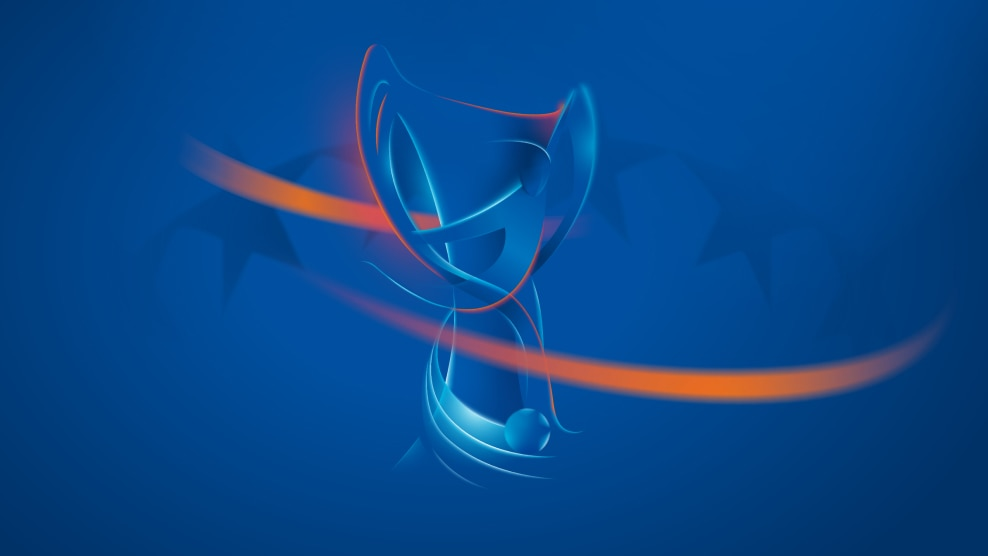 The UEFA Women's Champions League trophy